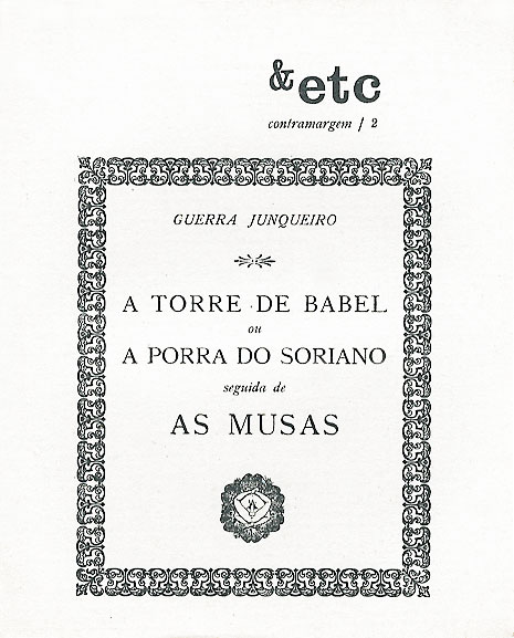 02 - A Torre de Babel ou a Porra do Soriano seguida de As Musas